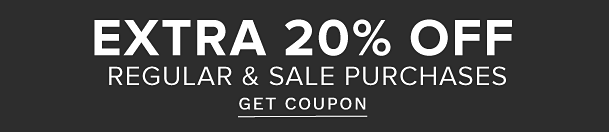 Extra 20% off regular & sale purchases. Get coupon.