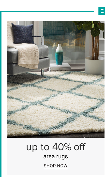 Belk.com exclusives. A white & teal grid patterned area rug on a hardwood floor. Up to 40% off area rugs. Shop now.