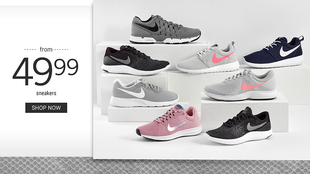 An assortment of Nike sneakers in a variety of colors & styles. From $49.99 sneakers. Shop now.