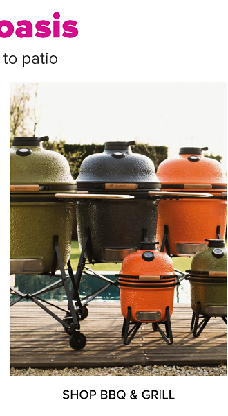 Create your outdoor oasis. Bring the vacay vibes home, from poolside to patio. An assortment of outdoor grills in a variety of colors and sizes. Shop barbecue and grill