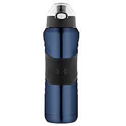 A navy & black water bottle. Shop water bottles.