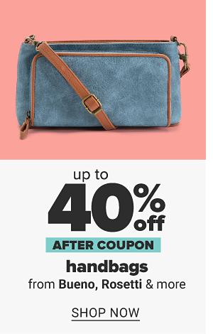 Up to 40% off handbags from Bueno, Rosetti & more after coupon. Shop Now.