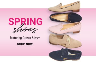 Spring Shoes featuring Crown & Ivy™. Shop Now.