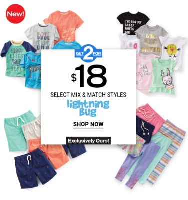 New! Get 2 for $18 - select mix & match styles - Lightning Bug - Exclusively ours! Shop Now.