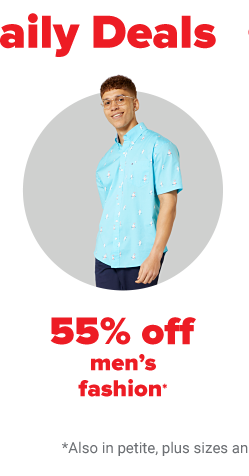 A young man in a bright blue patterned shirt with navy blue pants. 55% off men's fashion.