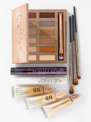An assortment of Urban Decay beauty products. Shop contemporary beauty.