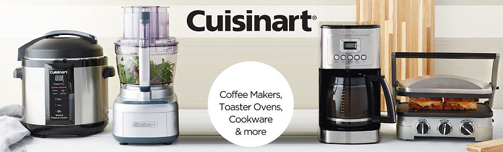 A slow cooker, a food processor, a coffee maker & a griddle. Cuisinart. Video play button.