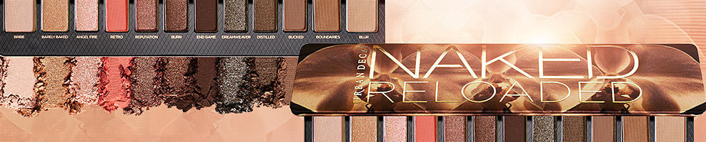 Urban Decay's Naked Reloaded eyeshadow palette and swatches from the palette.