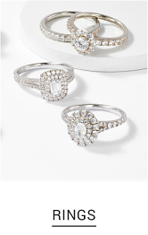 An assortment of rings in a variety of colors and styles. Shop rings.