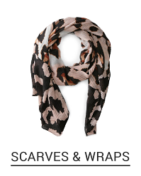 A black and beige scarf. Shop scarves and wraps.