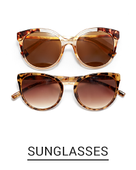 2 pairs of women's brown tinted sunglasses. Shop sunglasses.