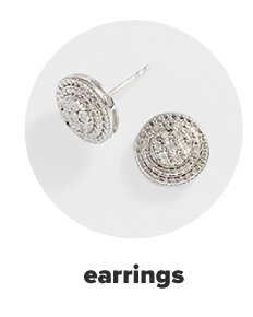 A pair of silver diamond studs. Earrings.