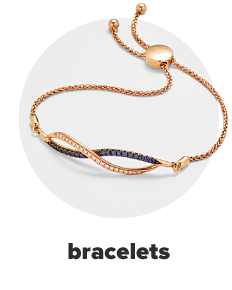 A rose gold women's bolo bracelet featuring an infinity symbol. Bracelets.