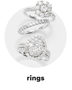 Three diamond rings in white gold. Rings.