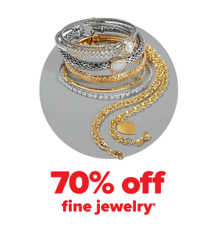 An assortment of silver and gold bracelets. 70% off fine jewelry.