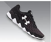 Black men's Under Armour sneakers.