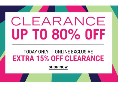 Clearance - Up to 80%. Shop Now.
