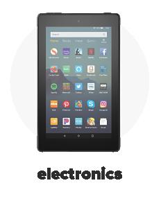 A black tablet. Shop electronics.
