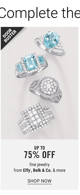 An assortment of silver, diamond & blue diamond rings. Doorbuster. Up to 75% off fine jewelry from Effy, Belk & Co. & more. Shop now.