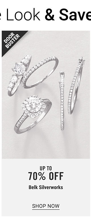 An assortment of silver tone & cubic zirconia rings. Doorbuster. Up to 70% off Belk Silverworks. Shop now.