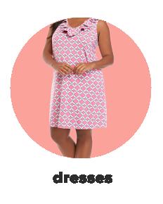 A woman in a floral midi dress. Dresses.