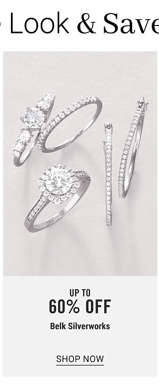 An assortment of silver tone & cubic zirconia rings. Up to 60% off Belk Silverworks. Shop now.