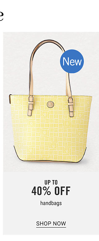 A light yellow leather bucket tote handbag with brown leather handles. New. Up to 40% off handbags. Shop now.