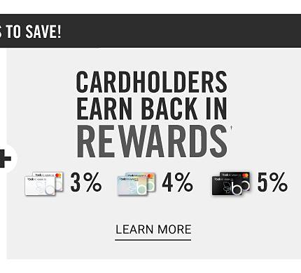 Cardholders Earn 3% back in rewards with Belk Rewards credit card, 4% back in rewards with Belk Premier Rewards credit card & 5% back in rewards with Belk Elite Rewards credit card. Learn more.