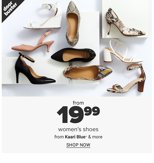 An assortment of heels in a variety of styles, colors and designs. Doorbuster. From 19.99 women's shoes from Kaari Blue and more. Shop now.