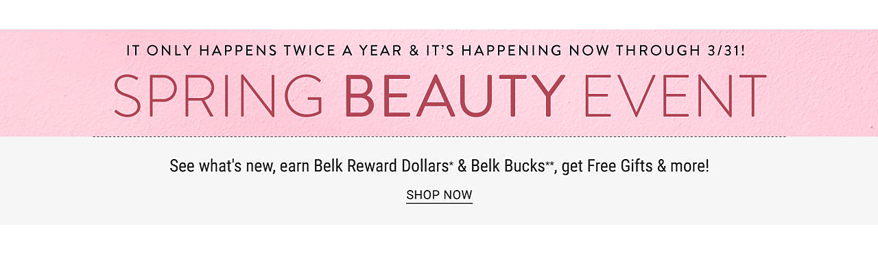 A multi colored floral print tote. It only happens twice a year & it's happening now through March 31. Spring Beauty Event. See what's new, earn Belk Reward Dollars & Belk Bucks, get Free Gifts & more. Free tote with $100 beauty purchase. While quantities last. One per customer, please.