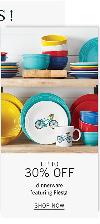 An assortment of plates, bowls & mugs in a variety of colors, prints & styles. Up to 30% off dinnerware featuring Fiesta. Shop now.