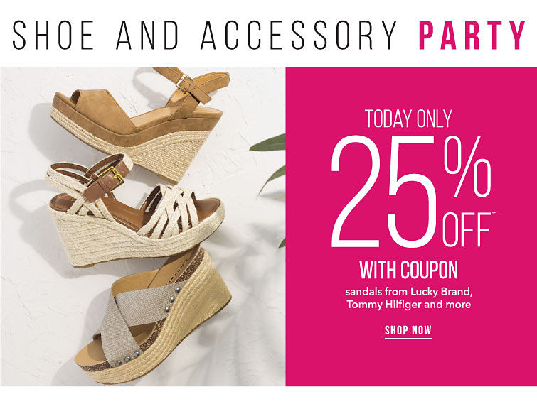 Shoes And Accessory Party | Today Only 25% Off With Coupon | Designer Shoes | shop now