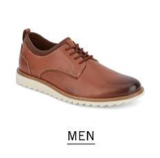 A brown leather men's shoe. Shop men.