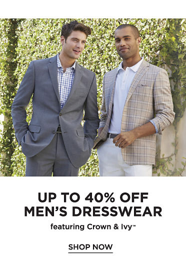 Up to 40% off Men's Dresswear featuring crown & ivy - Shop Now