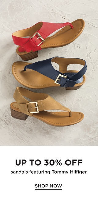Up to 30% off Sandals featuring Tommy Hilfiger - Shop Now