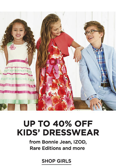 Up to 40% off Kids' Dresswear from Bonnie Jean, IZOD, Rare Editions and more - Shop Girls