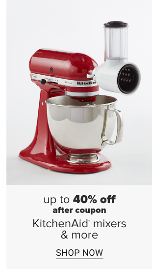 A red electric stand up mixer. Up to 40 percent off after coupon Kitchenaid mixers and attachments. Shop now.