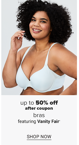 A woman in an aqua colored bra. Up to 50 percent off bras from Vanity Fair, Bali and Hanes. Shop now.