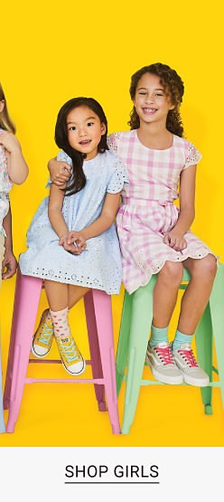 An assortment of boys and girls in a variety of brightly colored Easter and Spring dresswear. Up to 60 percent off kids dresswear after coupon. Shop boys. Shop baby. Shop girls.