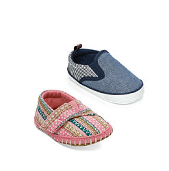 An assortment of baby shoes in a vaariety of colors & styles. Shop shoes.