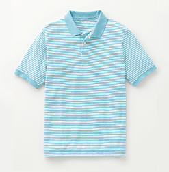 A light blue men's polo. Shop polos.
