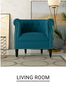 A torquise chair. Living Room