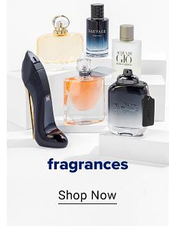 An assortment of fragrance bottles. Fragrances. Shop now.