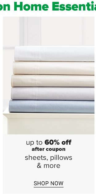 A stack of folded sheets in a variety of colors. Up to 60% off, after coupon sheets, pillows and more. Shop now.