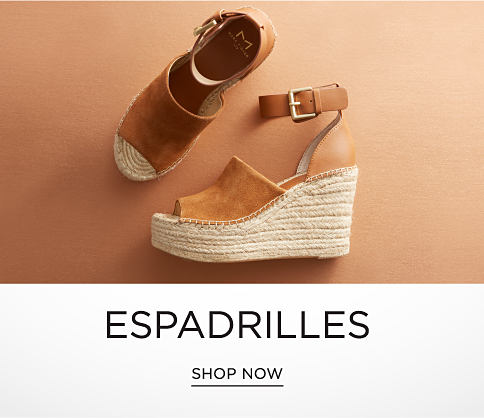 An assortment of women's espadrilles in a variety of colors & styles.  Espadrilles. Shop