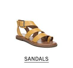 fb6e3f4cc971 A beige gladiator sandal. Shop sandals