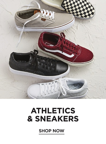 Athletics and sneakers. Shop now