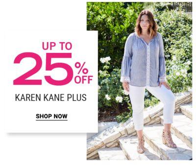 Up to 25% off Karen Kane Plus