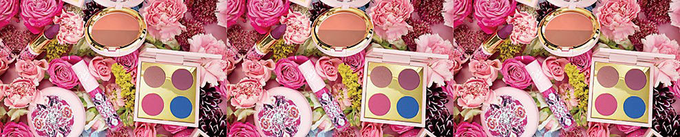An assortment of Mac beauty products amongst multi colored flowers. Patrick Starrr, makeup expert and YouTube star, is back to make your beauty dreams blossom with his new floral inspired Mac full face kits. This collection is all you need for fresh picked vibrant springtime looks. Shop now.
