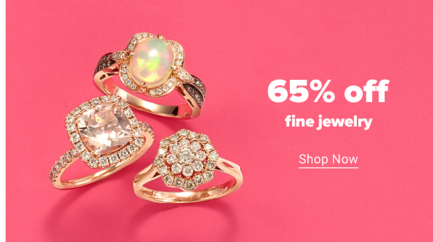 Three rose gold rings featuring a morganite, an opal and white diamonds. 65% off fine jewelry. Shop now.